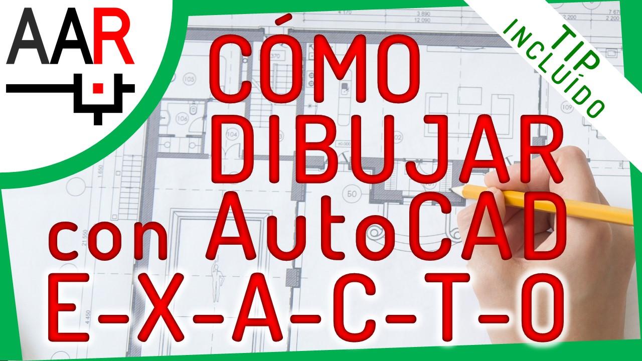 3 Formas de Dibujar en AutoCAD® con Valores Exactos [video]